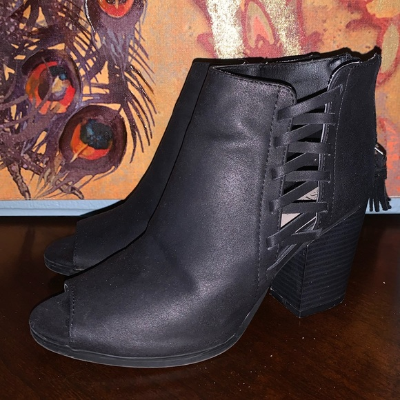 Just Fab Black Ankle Boots   Poshmark